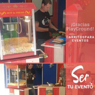 🎉🎉🎉Felicidades Ezan🎉🎉🎉 Gracias por confiar en @sertuevento 🍿Palomitas 🌭Perritos 😋Y mucho más  #Playgroundvaldemoro #carritosparaeventos #eventosmadrid