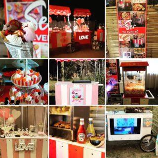 Carritos y Corners de comida para cada ocasión!! 🌭🍔🍿 www.sertuevento.es #cateringmadrid #helados #candybar #palomitasdulces #perritoscalientes🌭  #bodas2021