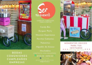🔊🔊🔊¿Que os parece el nuevo folleto? #eventosmadrid. #carritosparaeventos. #carritosoriginales.